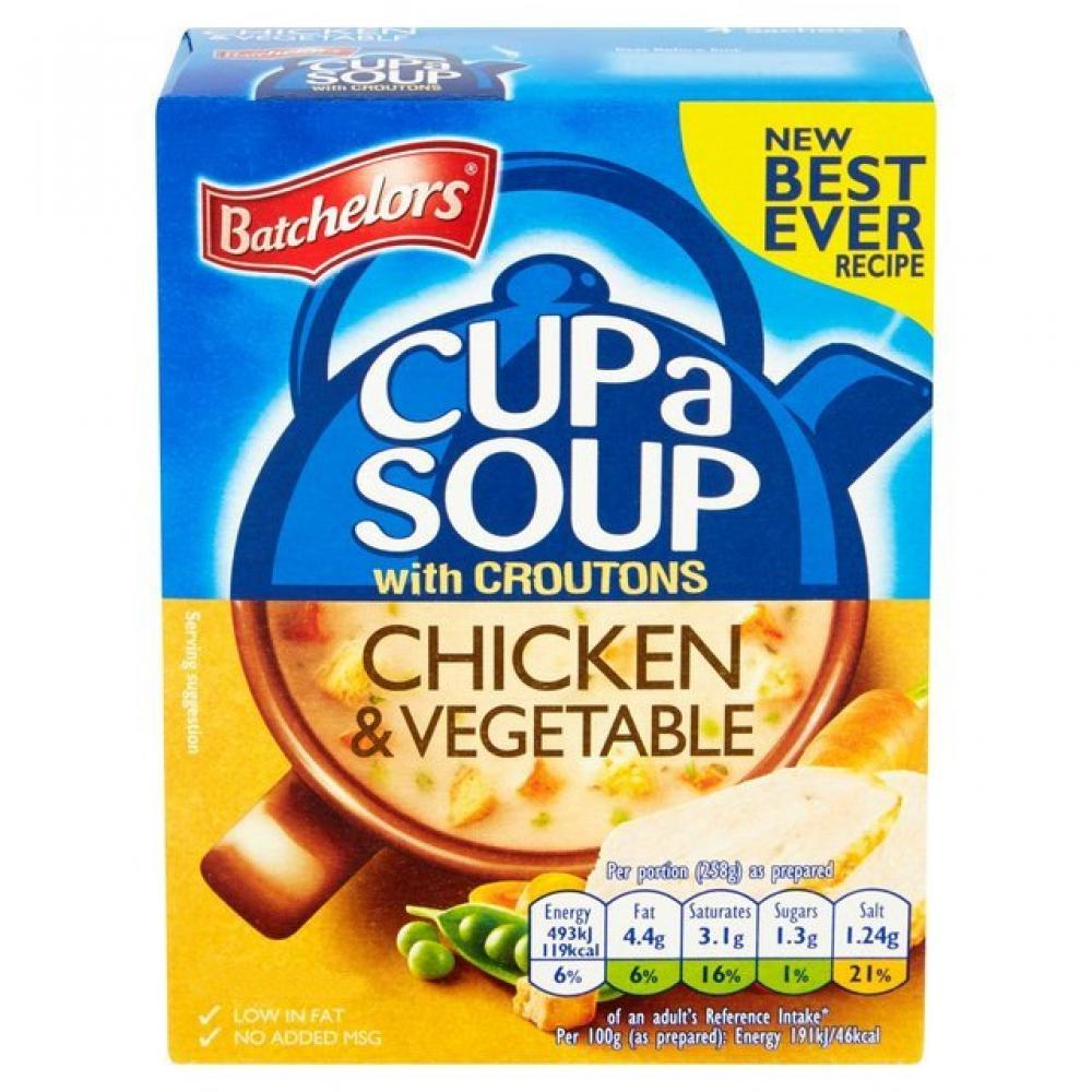 Batchelors Cup A Soup With Croutons Chicken And Vegetable 398g