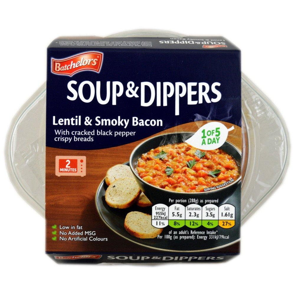 Batchelors Soup and Dippers Lentil and Smoky Bacon 288g