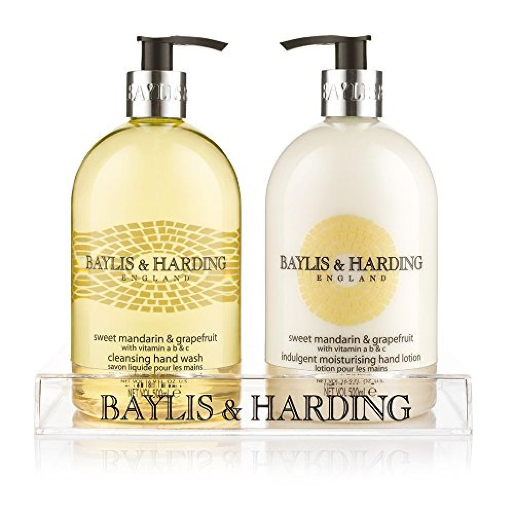 Baylis and Harding Mosaic Bottle Hand Wash and Hand Lotion Set 2x 500ml in Clear Stand