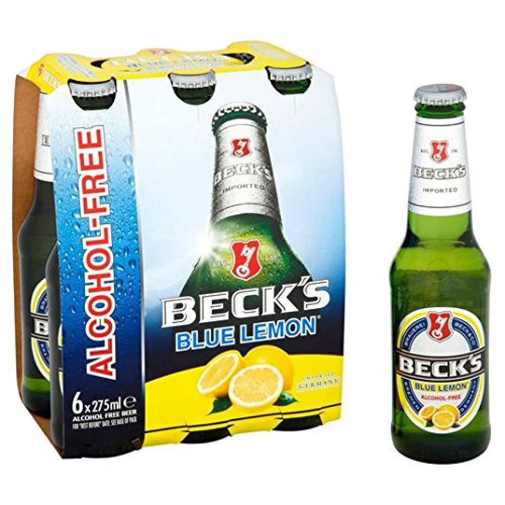 Becks Alcohol Free Beer Blue Lemon 275ml x 6