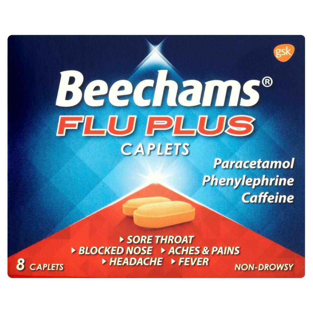 Beechams Flu Plus Caplets 8 pack