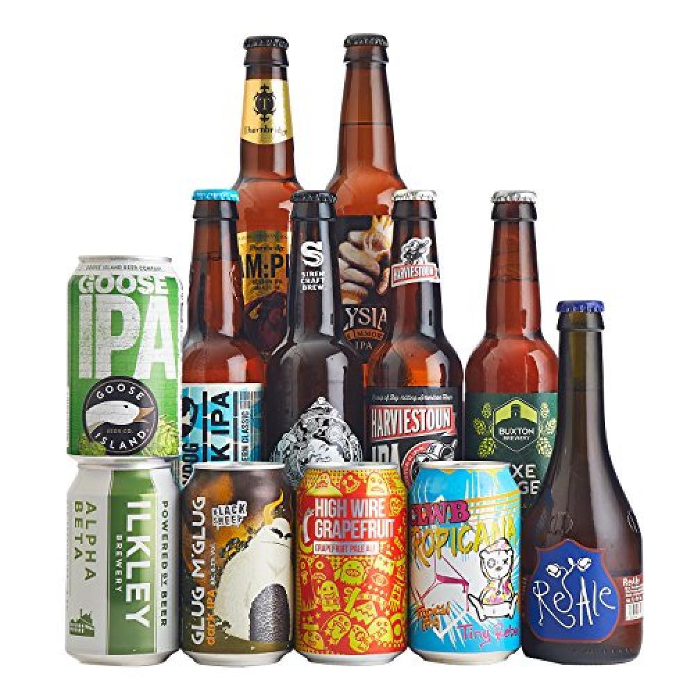 STAR BUY  Beer Hawk Mixed Craft IPA Beer Case of 12