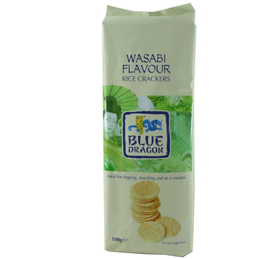 Blue Dragon Wasabi Flavour Rice Crackers 100g