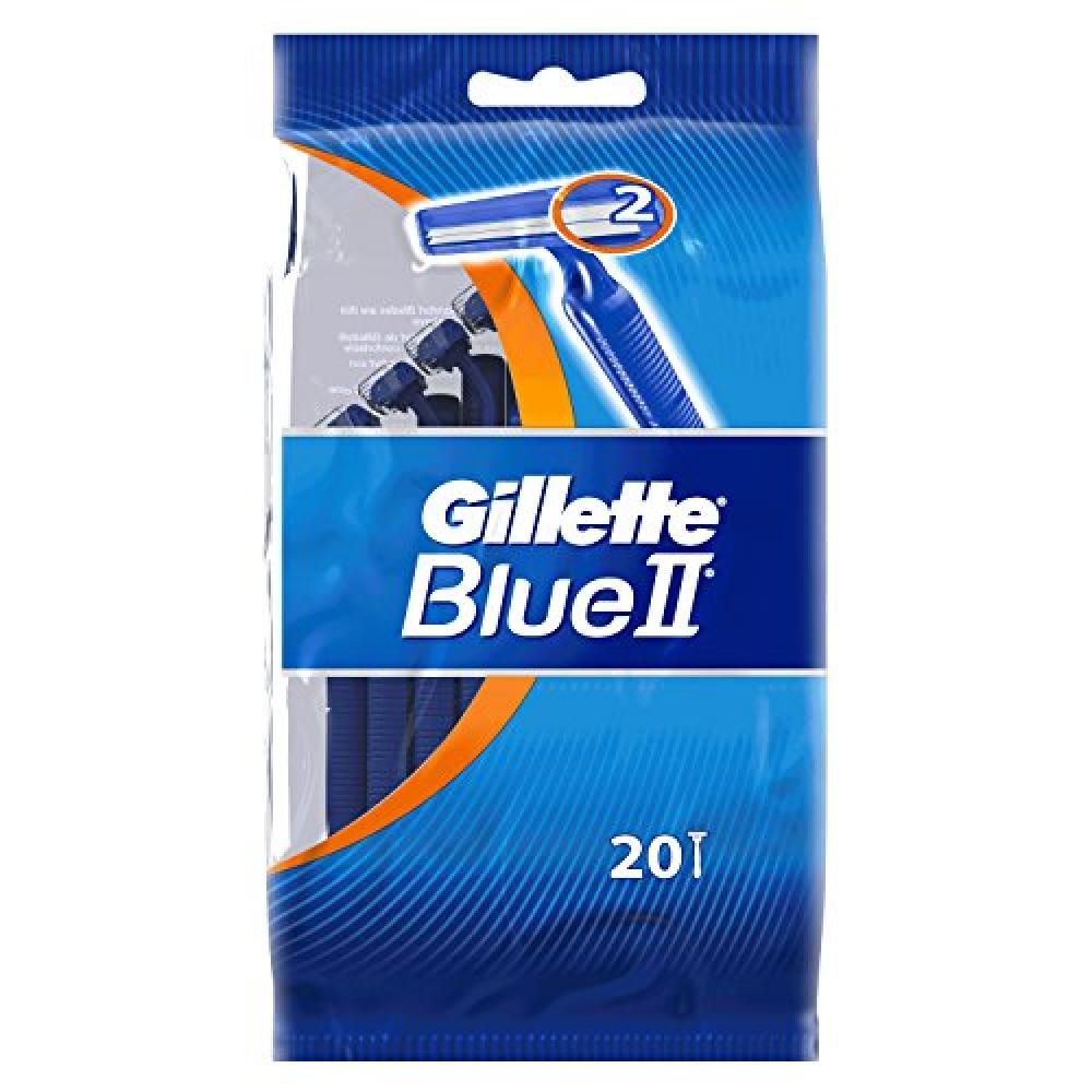 Gillette Blue II Disposable Razors with 20 Razors