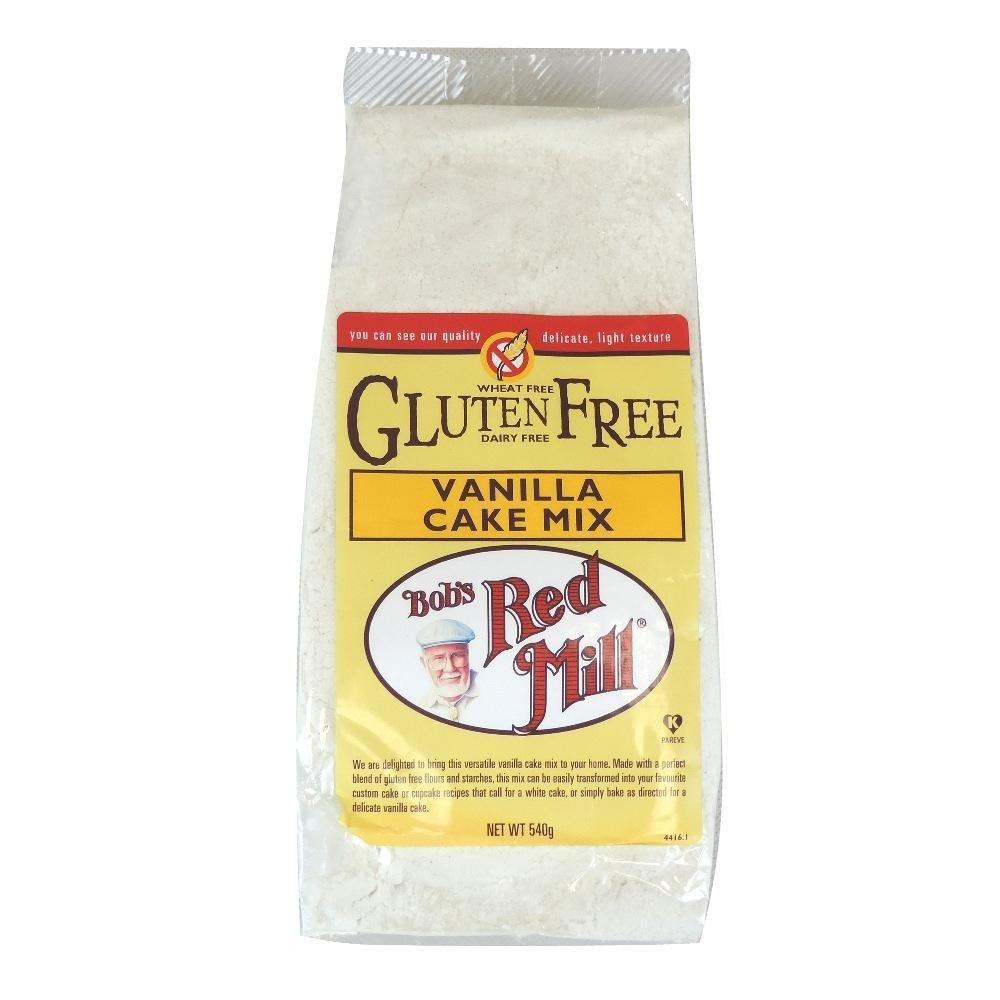 Bobs Red Mill Natural Foods Gluten Free Vanilla Cake Mix 540g