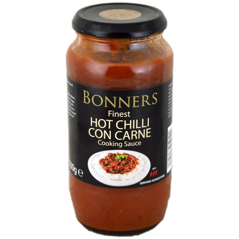 Bonners Finest Hot Chilli Con Carne Cooking Sauce 500g