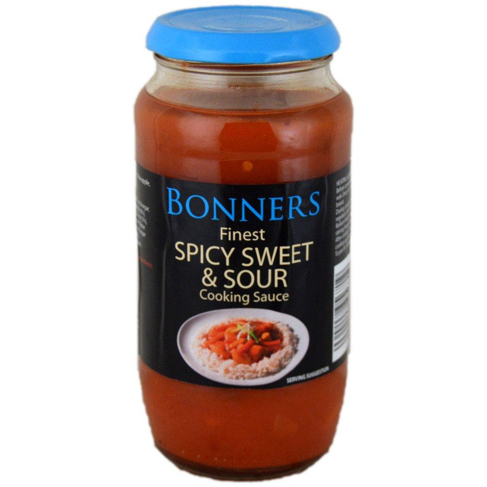 Bonners Finest Spicy Sweet and Sour Cooking Sauce 500g