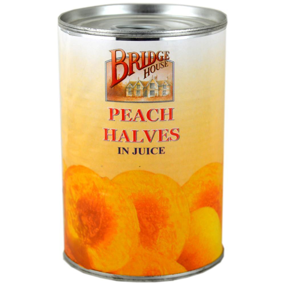 Bridge House Peach Halves In Syrup 410g