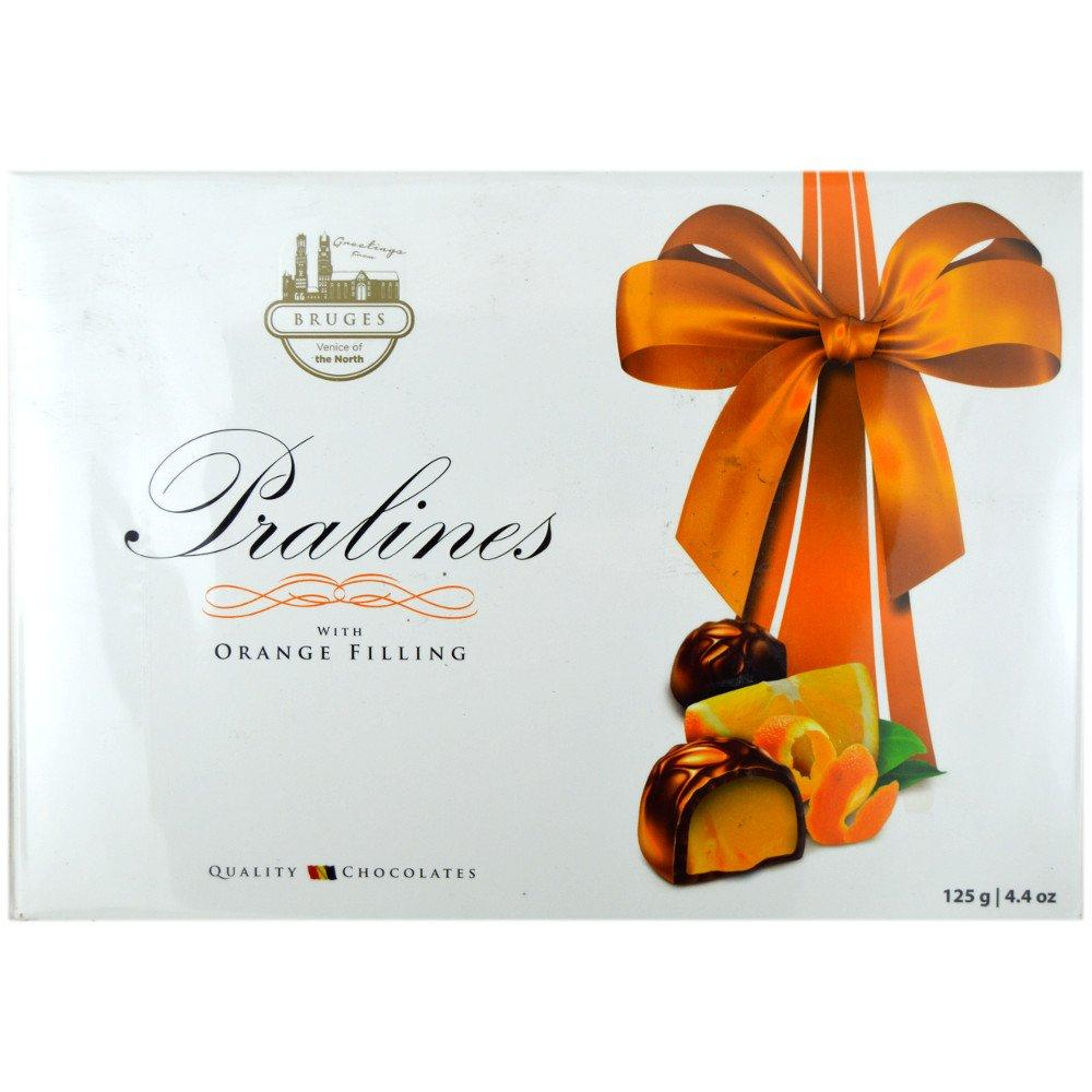 Bruges Pralines with Orange Filling 125g