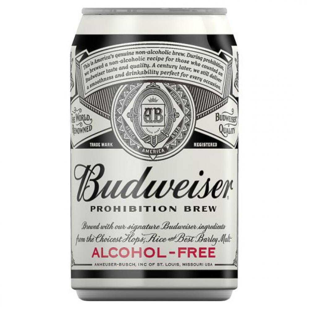 Budweiser Prohibition Alcohol Free Beer 330ml
