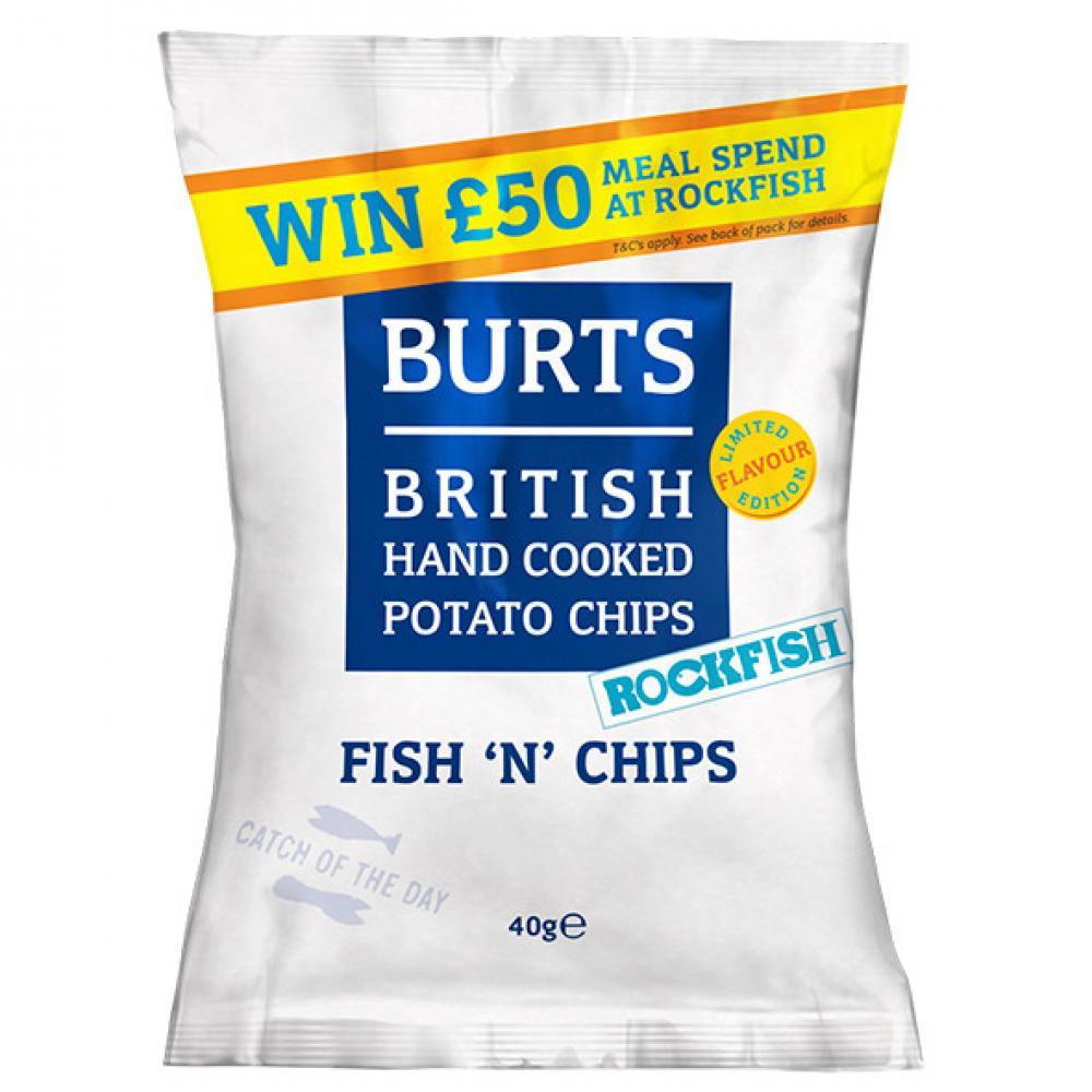 Burts Fish n Chips Potato Chips 40g