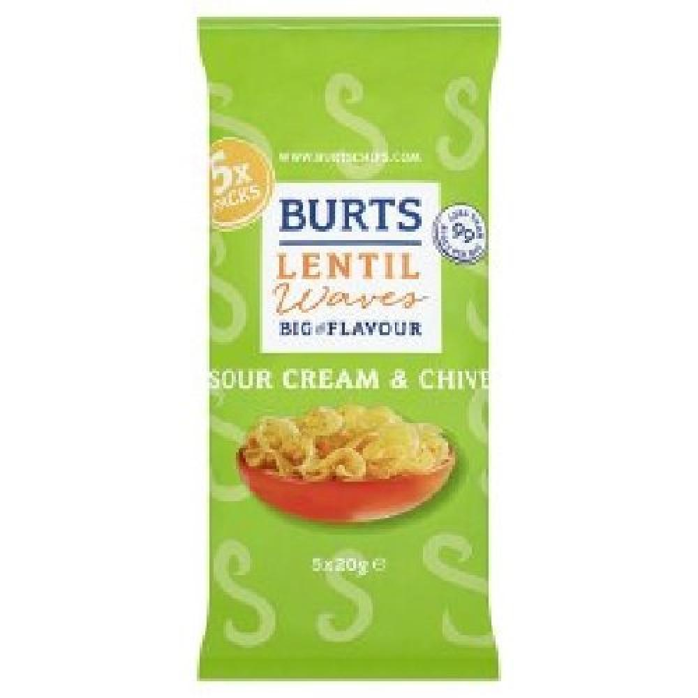 Burts Lentil Waves Sour Cream and Chive 20g x 5