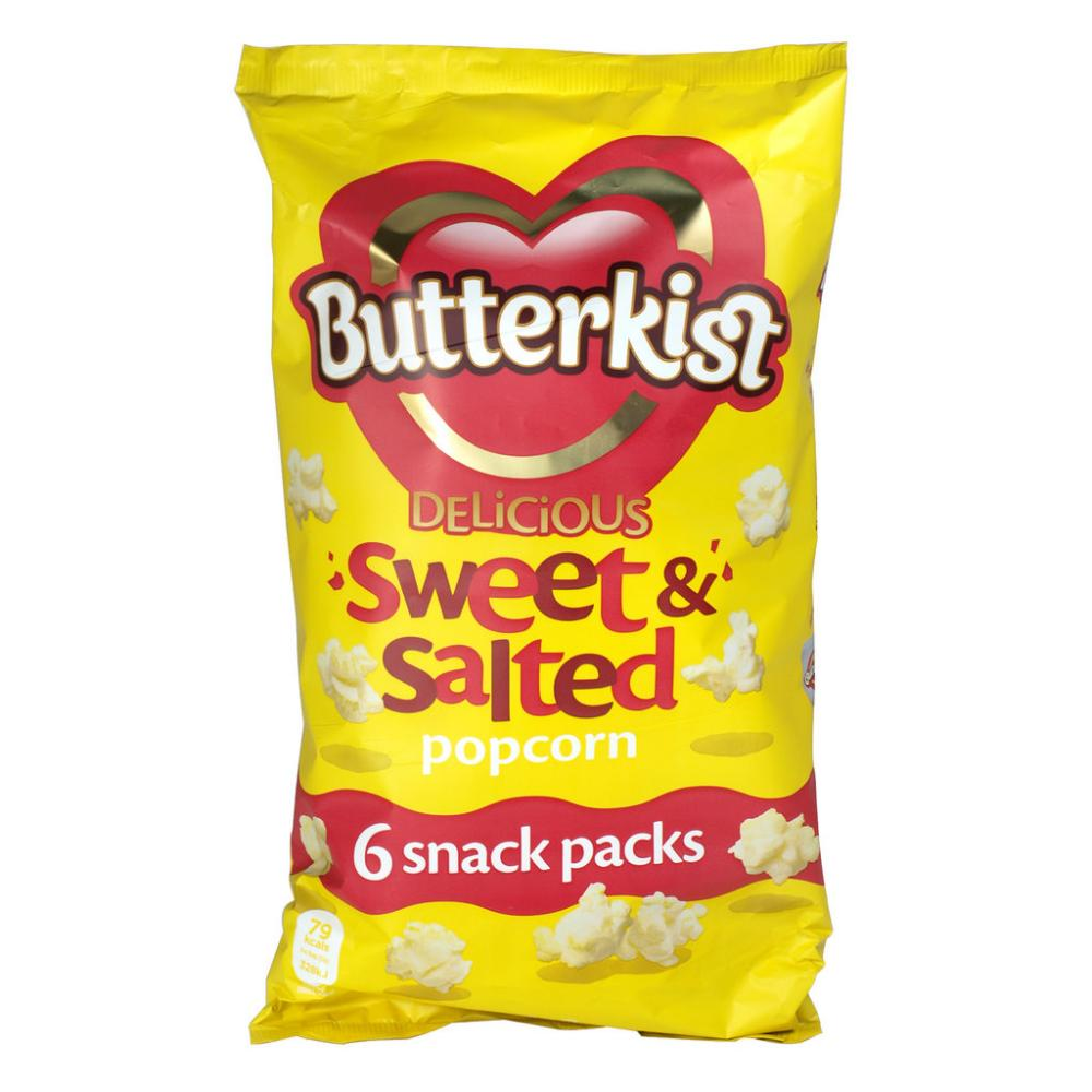 Butterkist Sweet and Salted Popcorn 15g x 6 snack packs