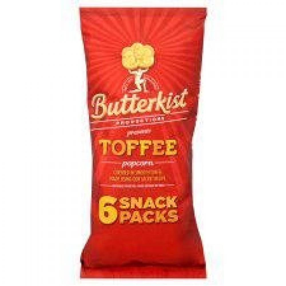 Butterkist Toffee Popcorn 30g x 6