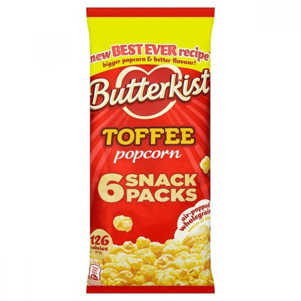 Butterkist Toffee Popcorn 6 x 30g