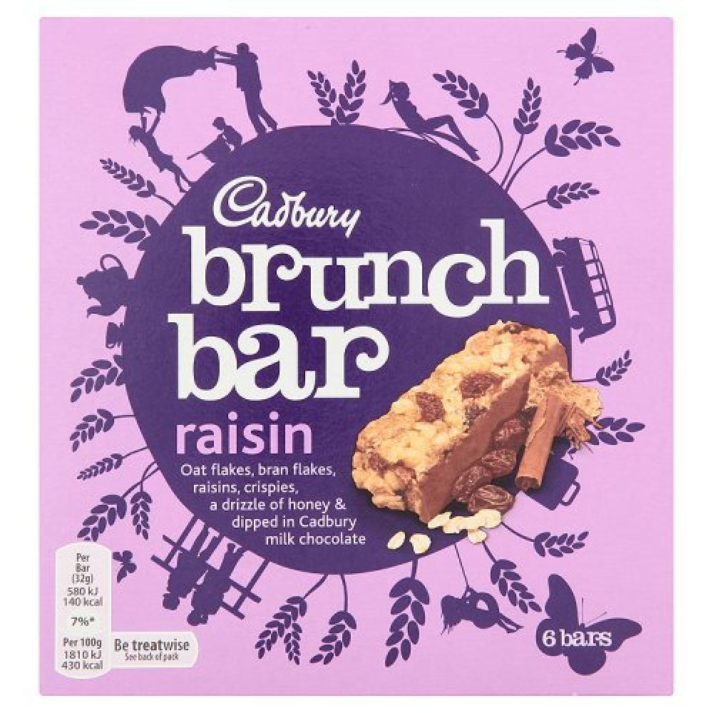 Cadbury Brunch Raisin Bar 6x32g