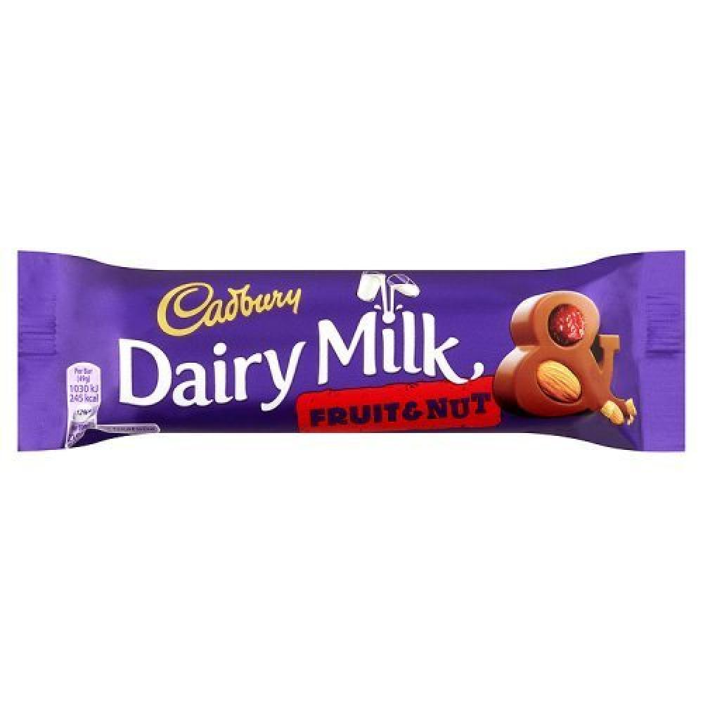 Cadbury Dairy Milk Chocolate Fruit and Nut Bar 49g