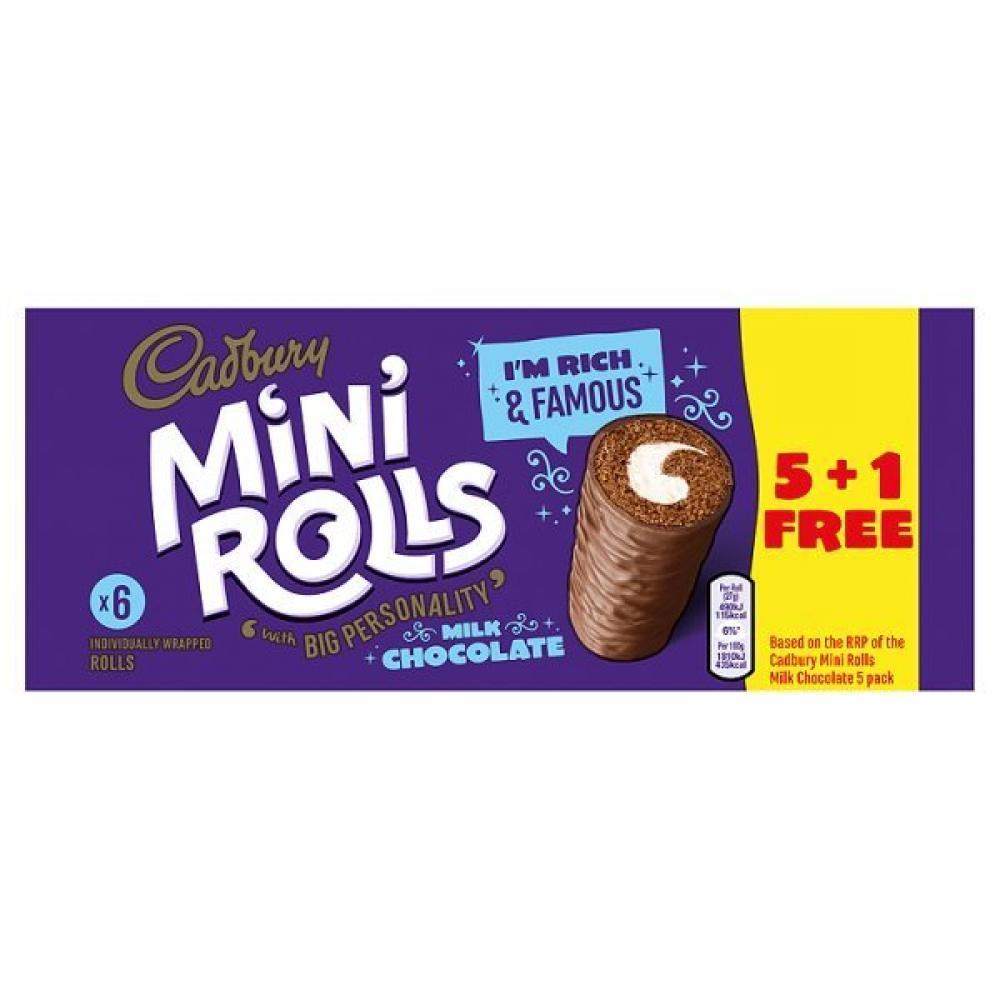Cadbury Mini Rolls Milk Chocolate 162g
