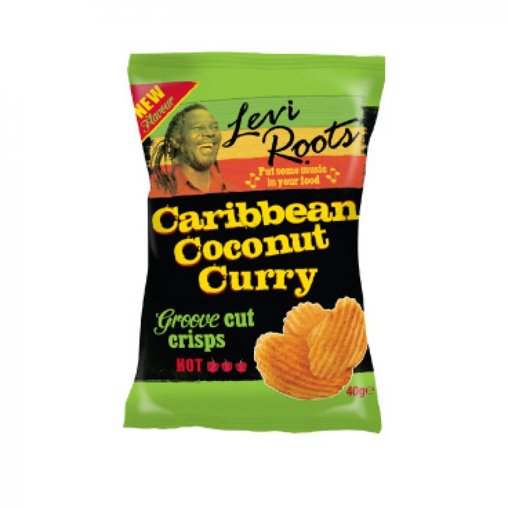 Levi Roots Caribbean Coconut Curry Groove Cut Crisps 40g
