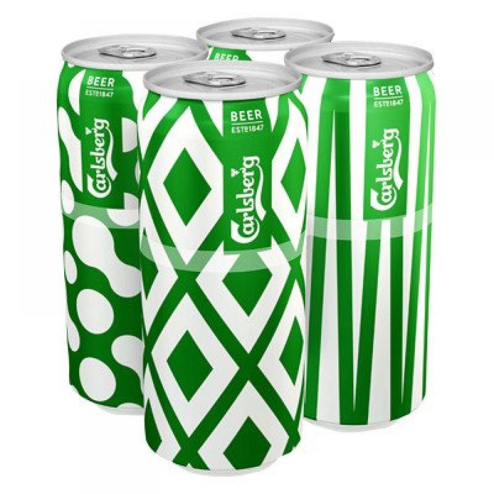 Carlsberg Lager 500ml x 4