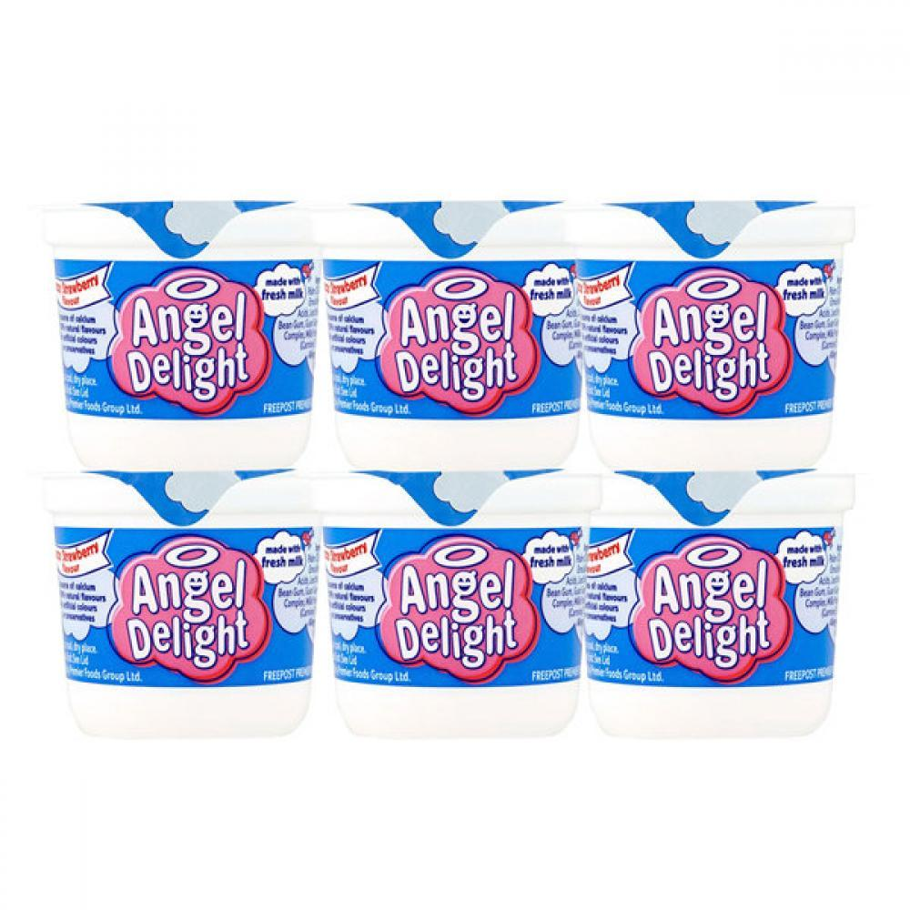 CASE PRICE  Angel Delight Strawberry Flavour Dessert 70g x 6