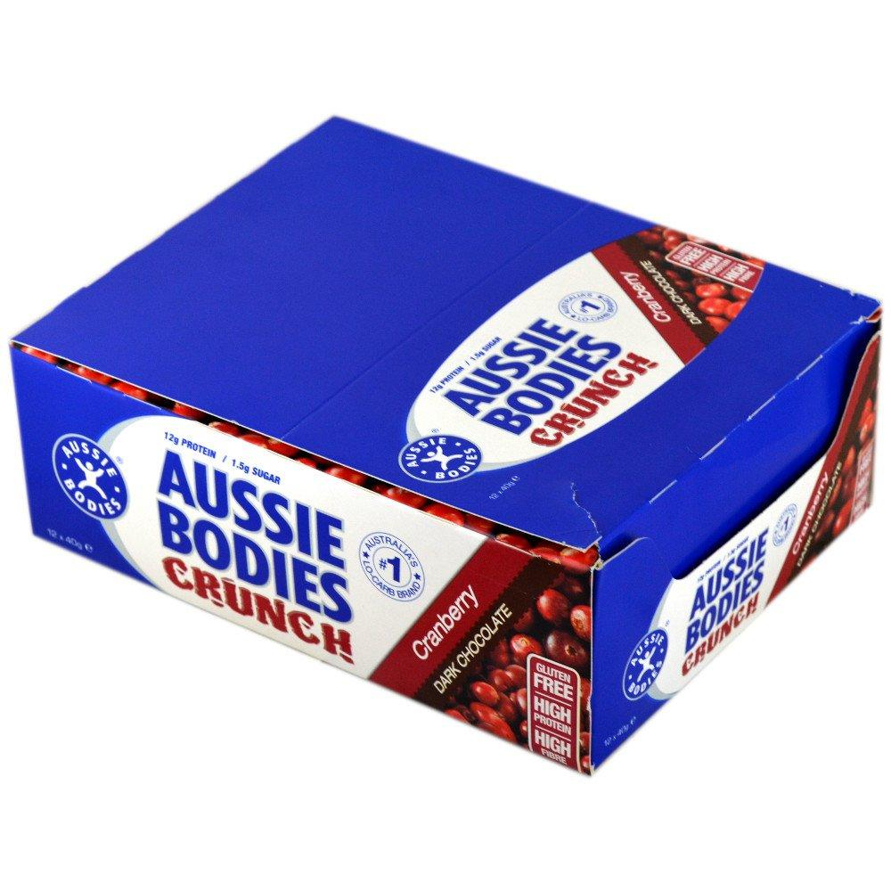 CASE PRICE  Aussie Bodies Crunch Bar Cranberry 40g x 12