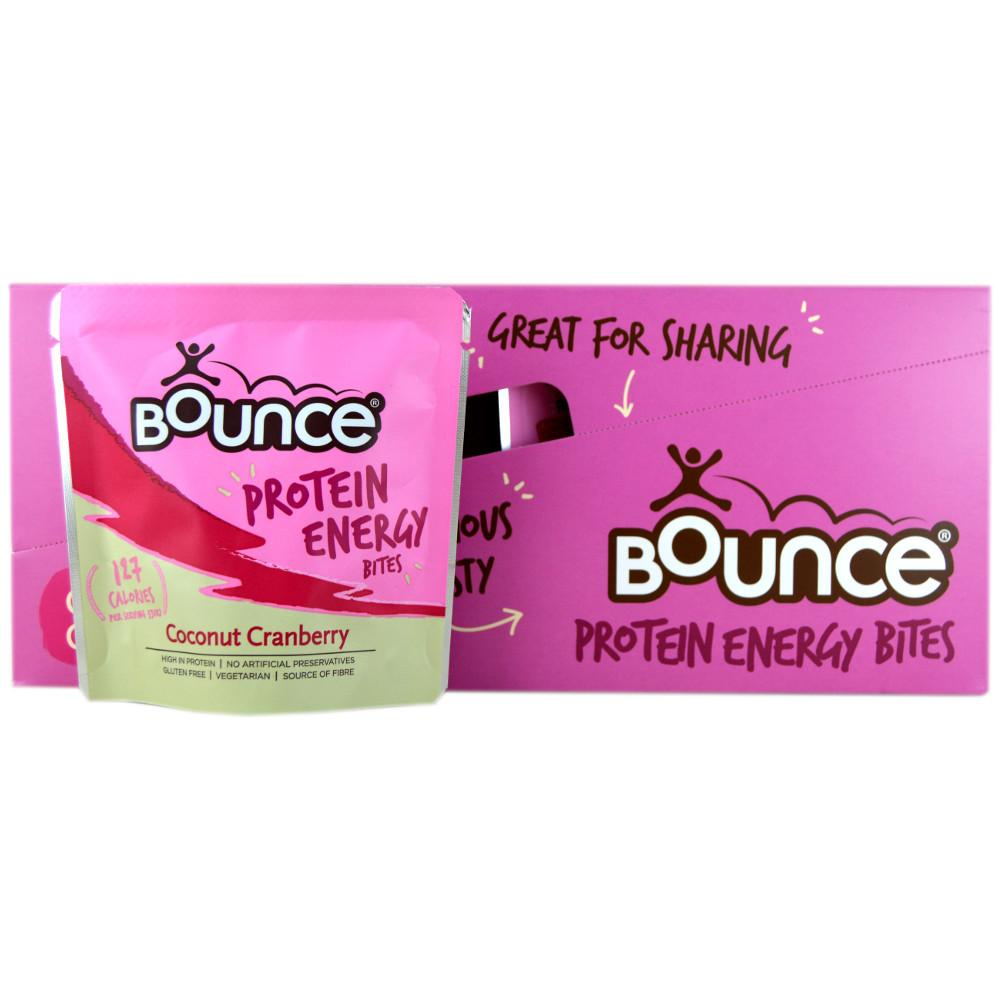 CASE PRICE  Bounce Coconut Cranberry Protein Energy Bites 30g x 10