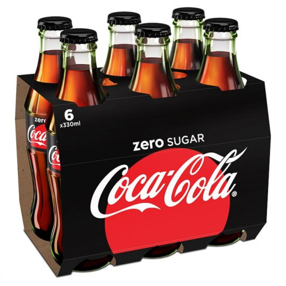 coca cola zero sugar 330ml x 6 approved food. Black Bedroom Furniture Sets. Home Design Ideas
