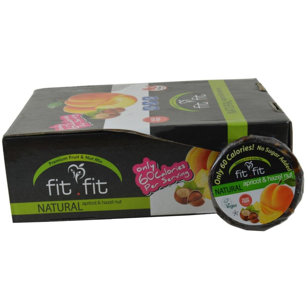CASE PRICE  Fit Fit Natural Apricot And Hazelnut 25g x 30