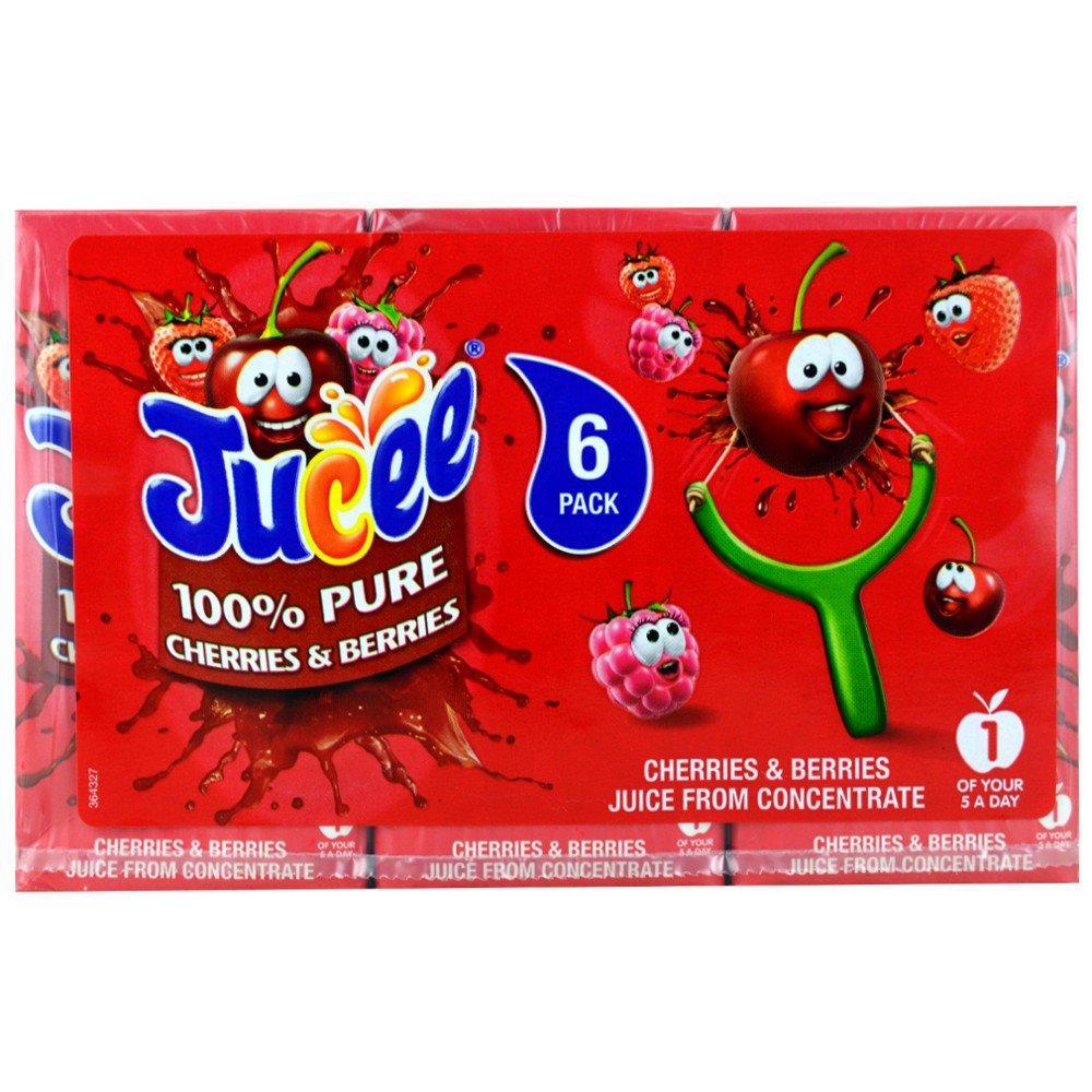 Jucee 100 Pure Cherries and Berries Juice 200ml x 6