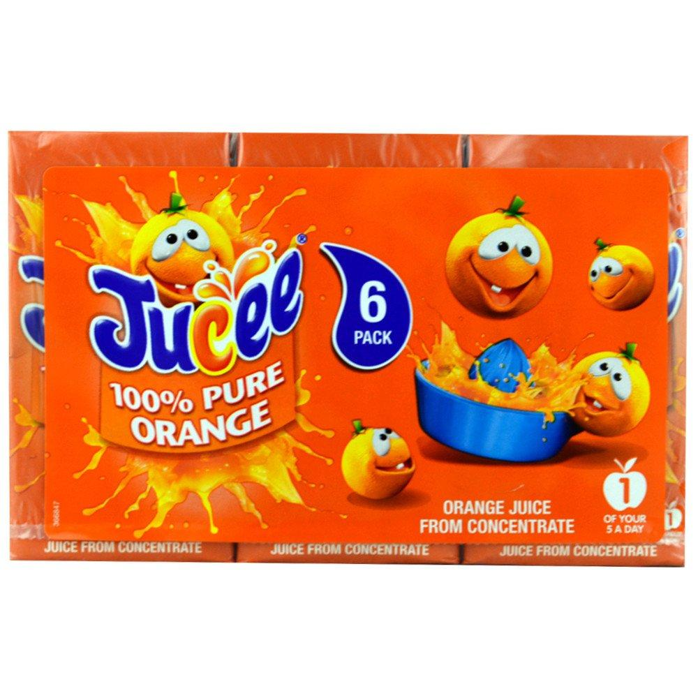 Jucee 100 Pure Orange Juice 200ml x 6