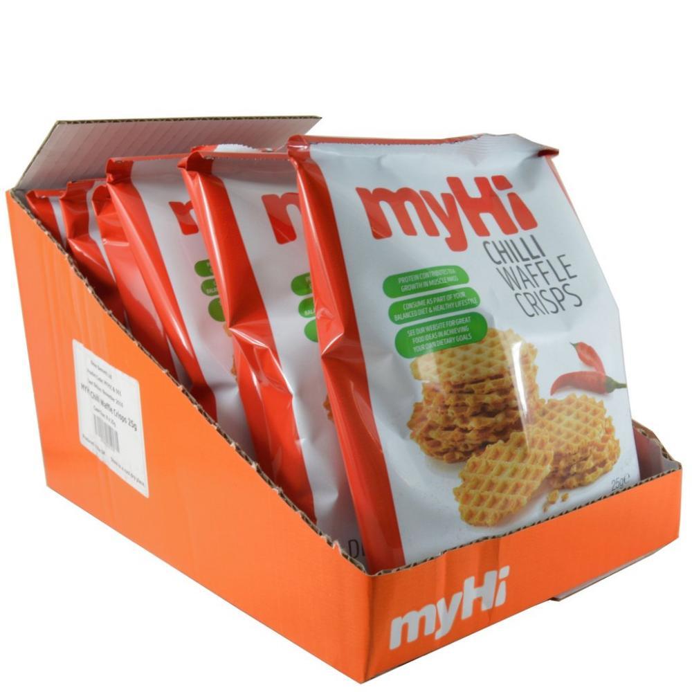 CASE PRICE  myHi CASE PRICE myHi Chilli Waffle Crisps 8 x 25g