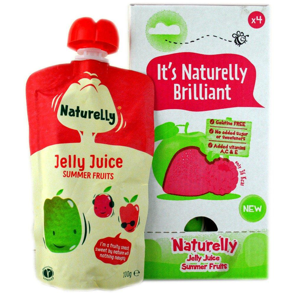 CASE PRICE  Naturelly Jelly Juice Summer Fruits 100g x 4