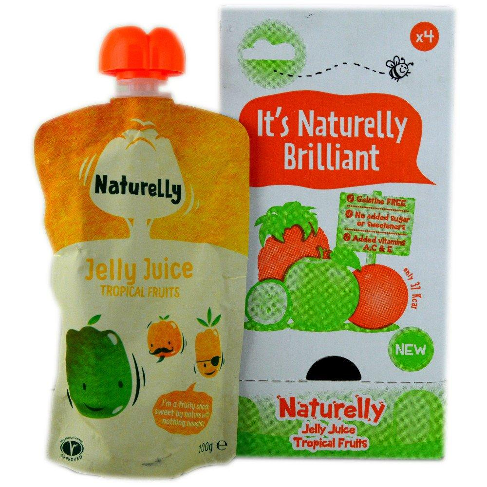 CASE PRICE  Naturelly Jelly Juice Tropical Fruits 100g x 4