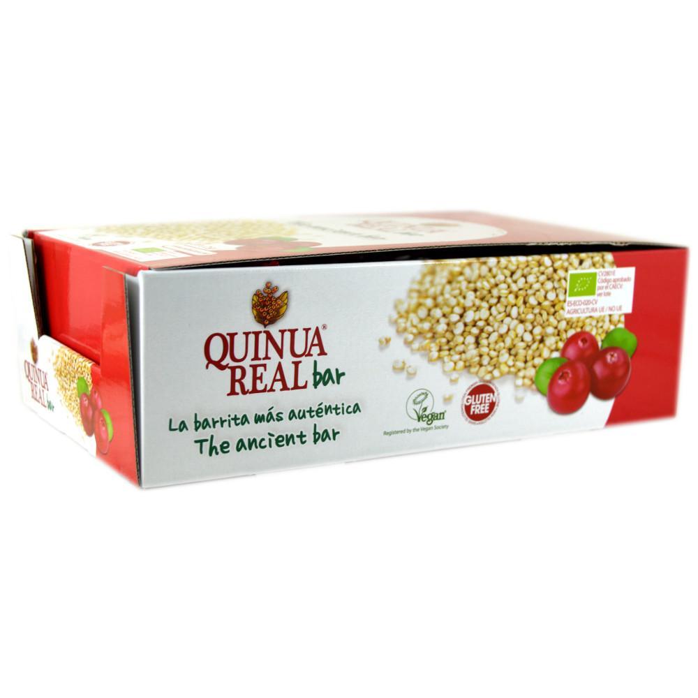 CASE PRICE  Quinua Real Organic Cranberry Bar 20g x 20