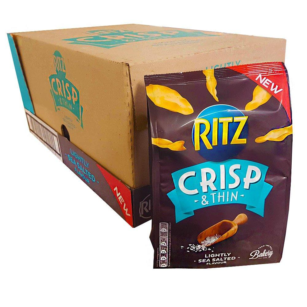 CASE PRICE  Ritz Crisp and Thin Lightly Salted 12 x 100g