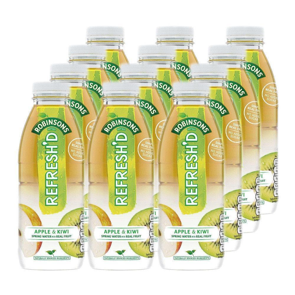 CASE PRICE  Robinsons Refreshed Apple and Kiwi 500ml x 12