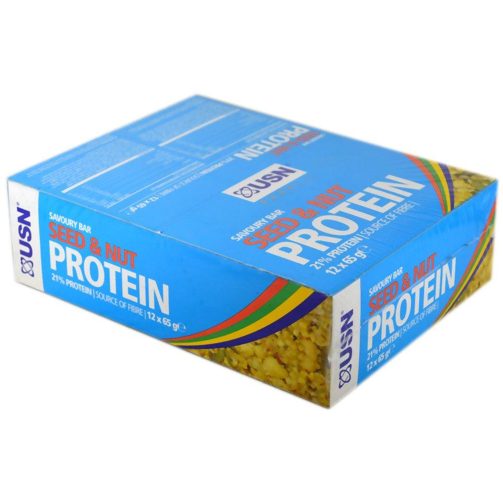 CASE PRICE  USN Protein Seed and Nut Savoury Bar 65g x 12