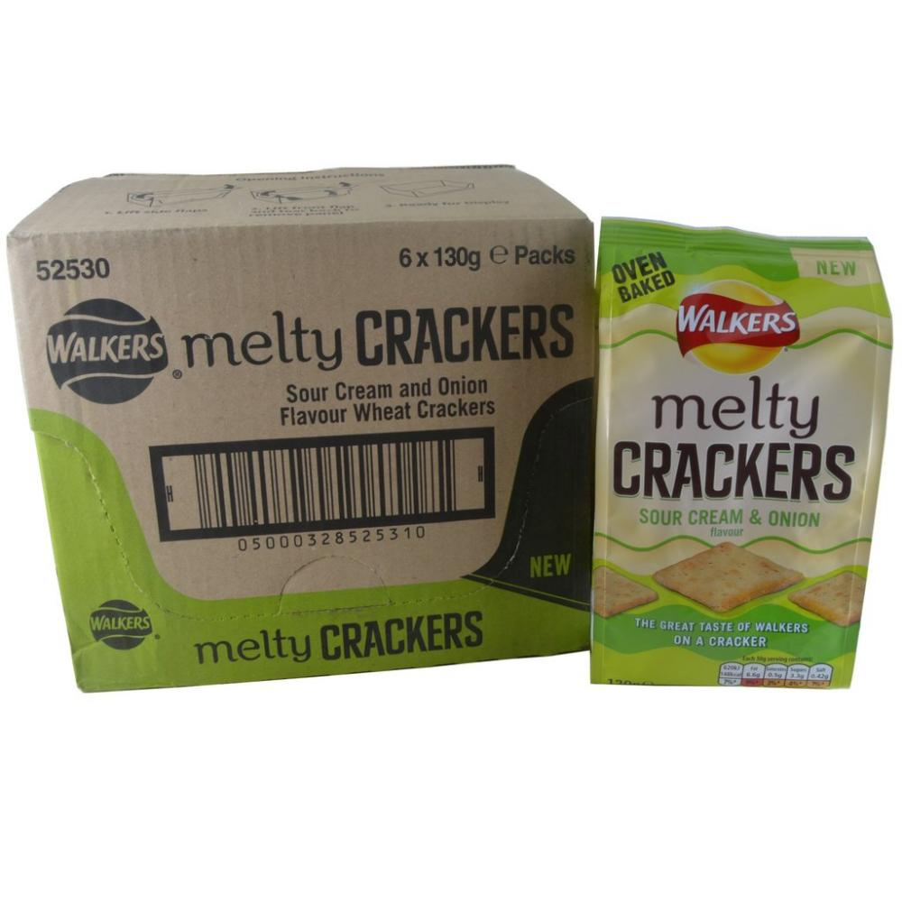 CASE PRICE  Walkers Melty Crackers Sour Cream And Onion Flavour 6 x 130g