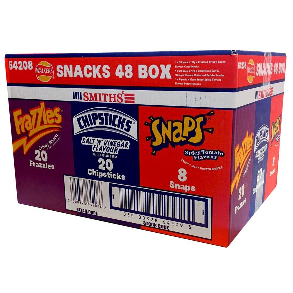 CASE PRICE  Walkers Smiths Variety Box 48 pack