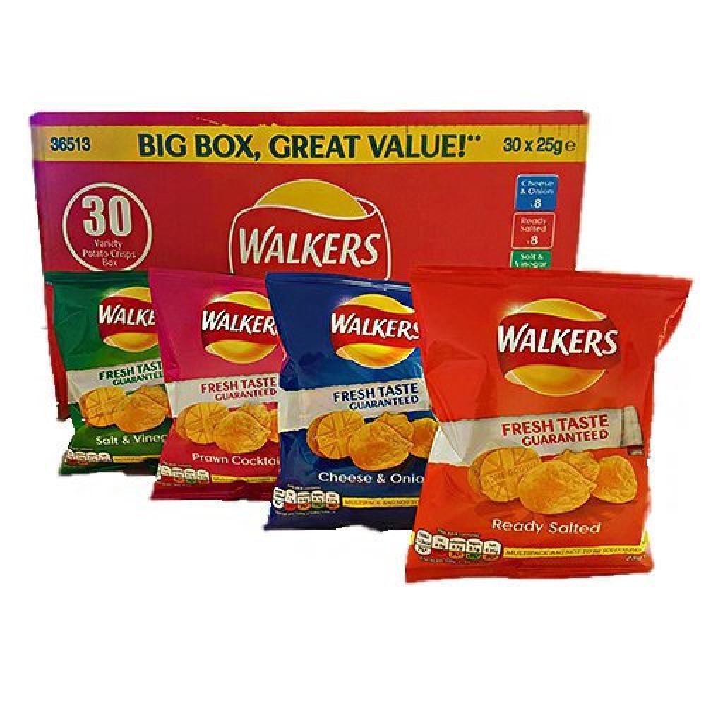 CASE PRICE  Walkers Variety 25g x 30