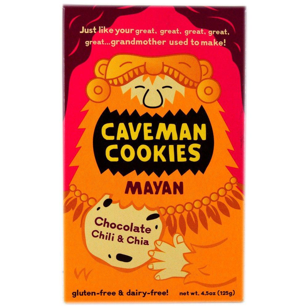 Caveman Cookies Mayan Chocolate Chilli and Chia 125g 125g