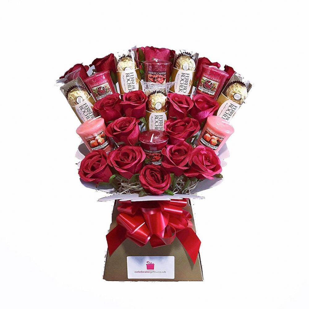 Celebrate Gifts Ltd Yankee Collection Scented CandleSilk Red Roses ...