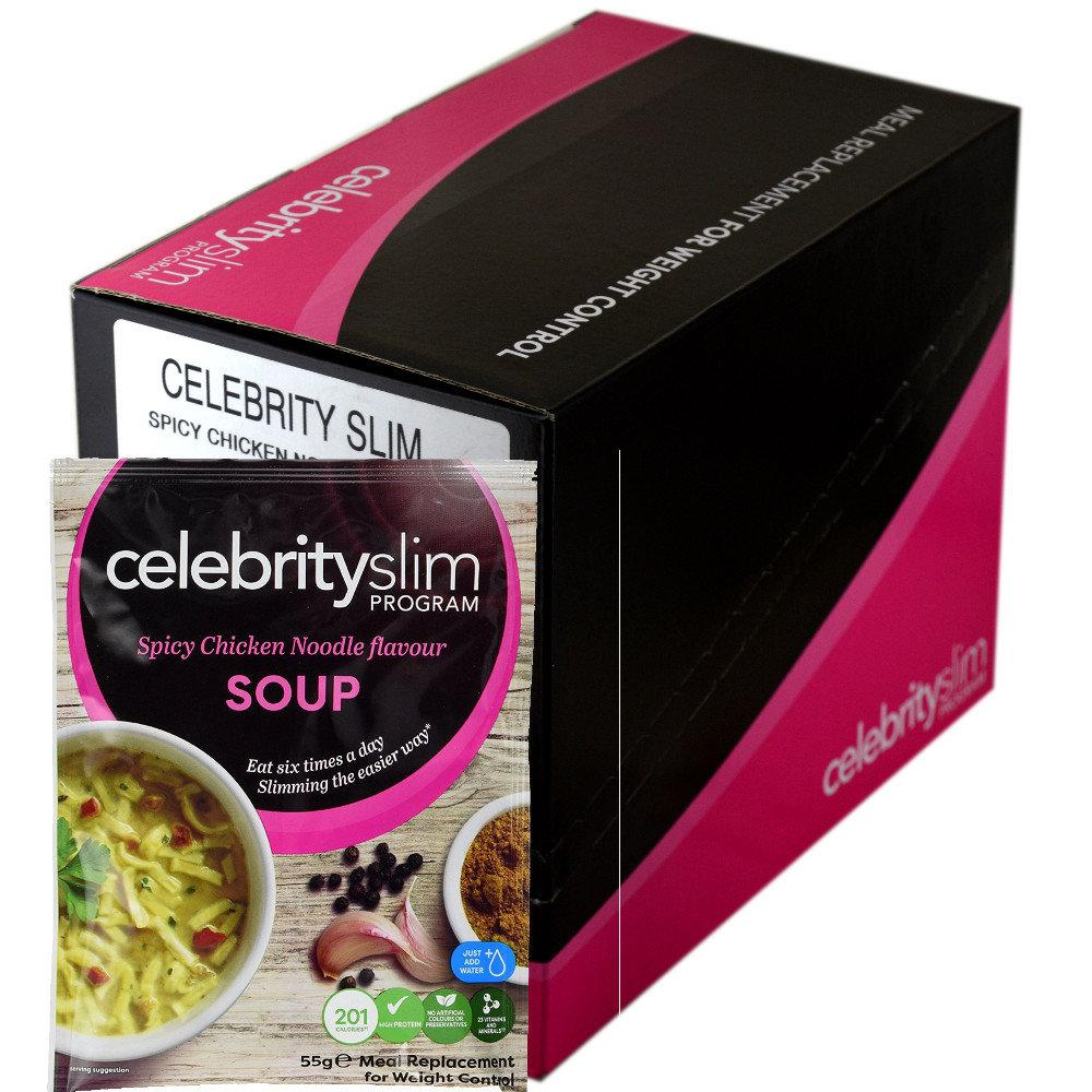 Celebrity Slim Spicy Chicken Noodle Flavour Soup 55g x 14