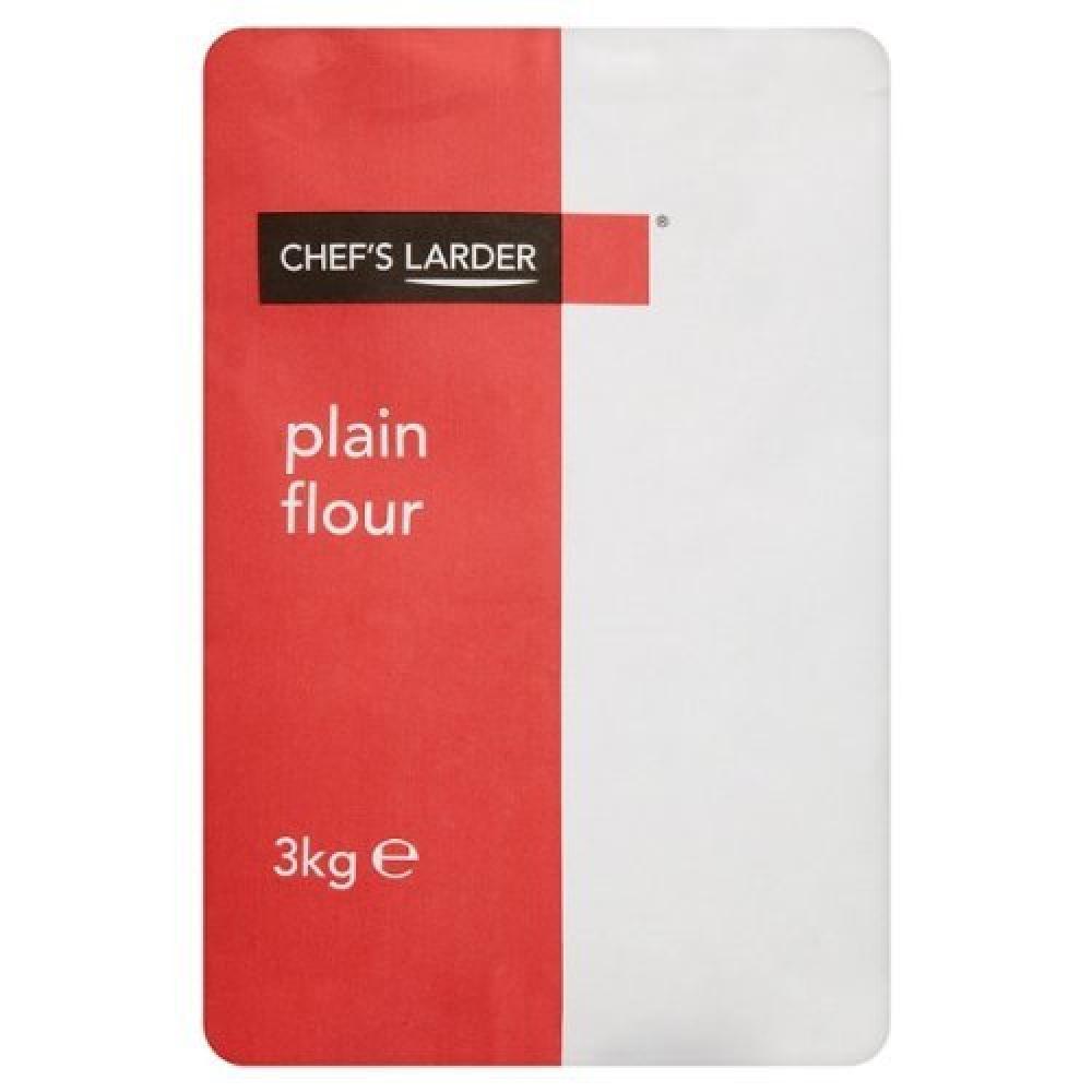 Chefs Larder Plain Flour 3kg