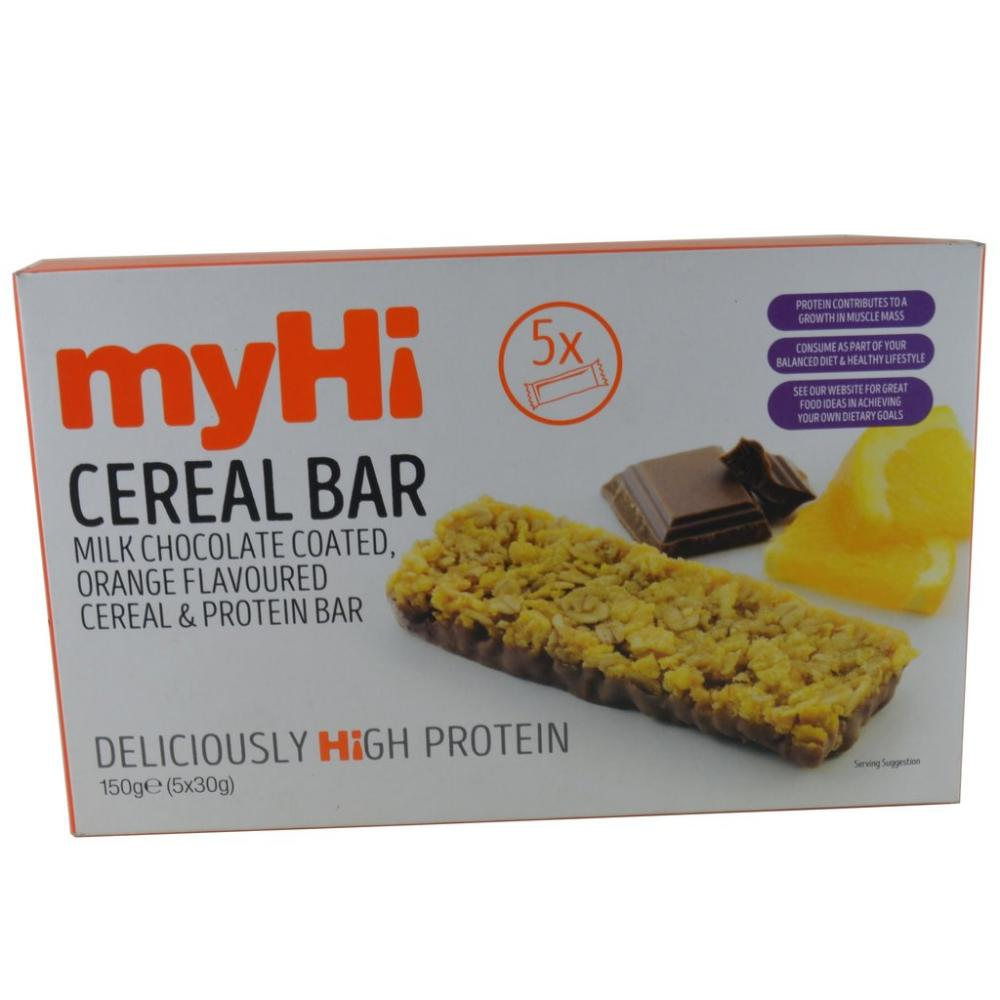 myHi Chocolate And Orange Cereal Bar 5 x 30g