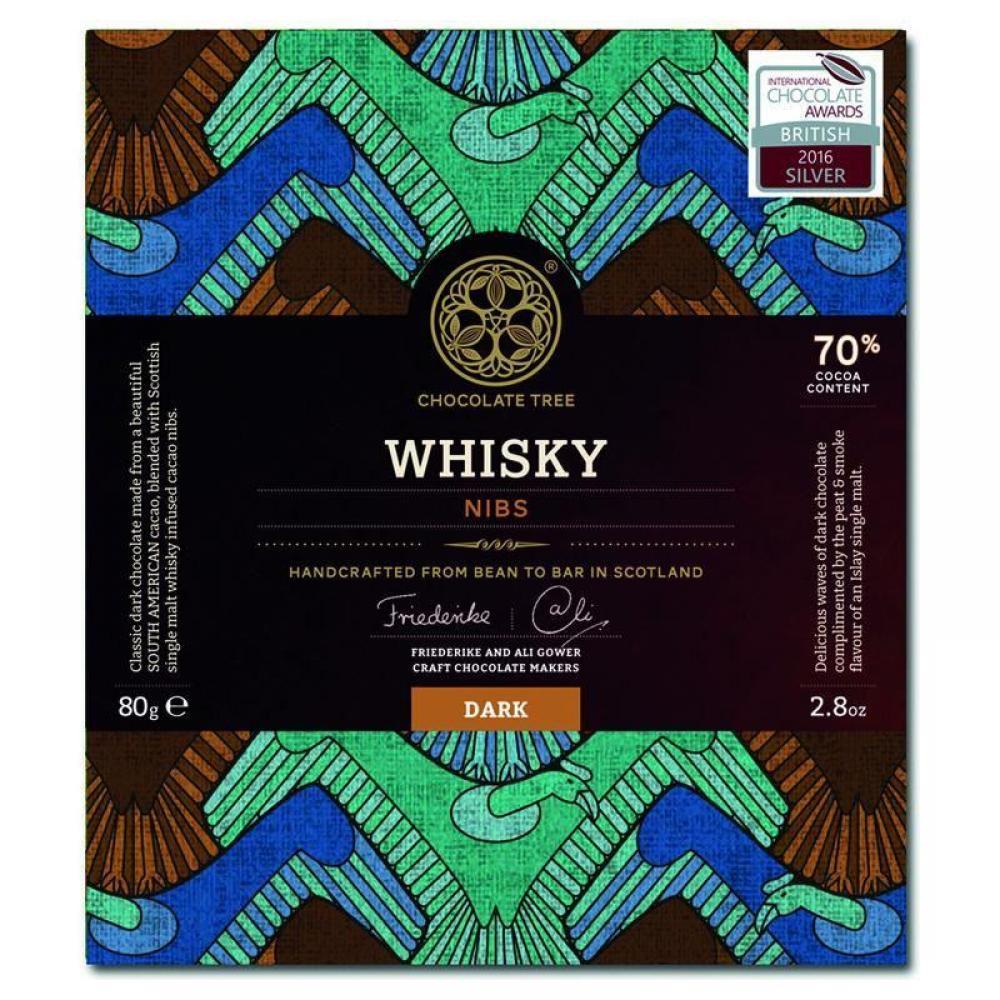 Chocolate Tree Dark Chocolate Whisky Nibs 80g