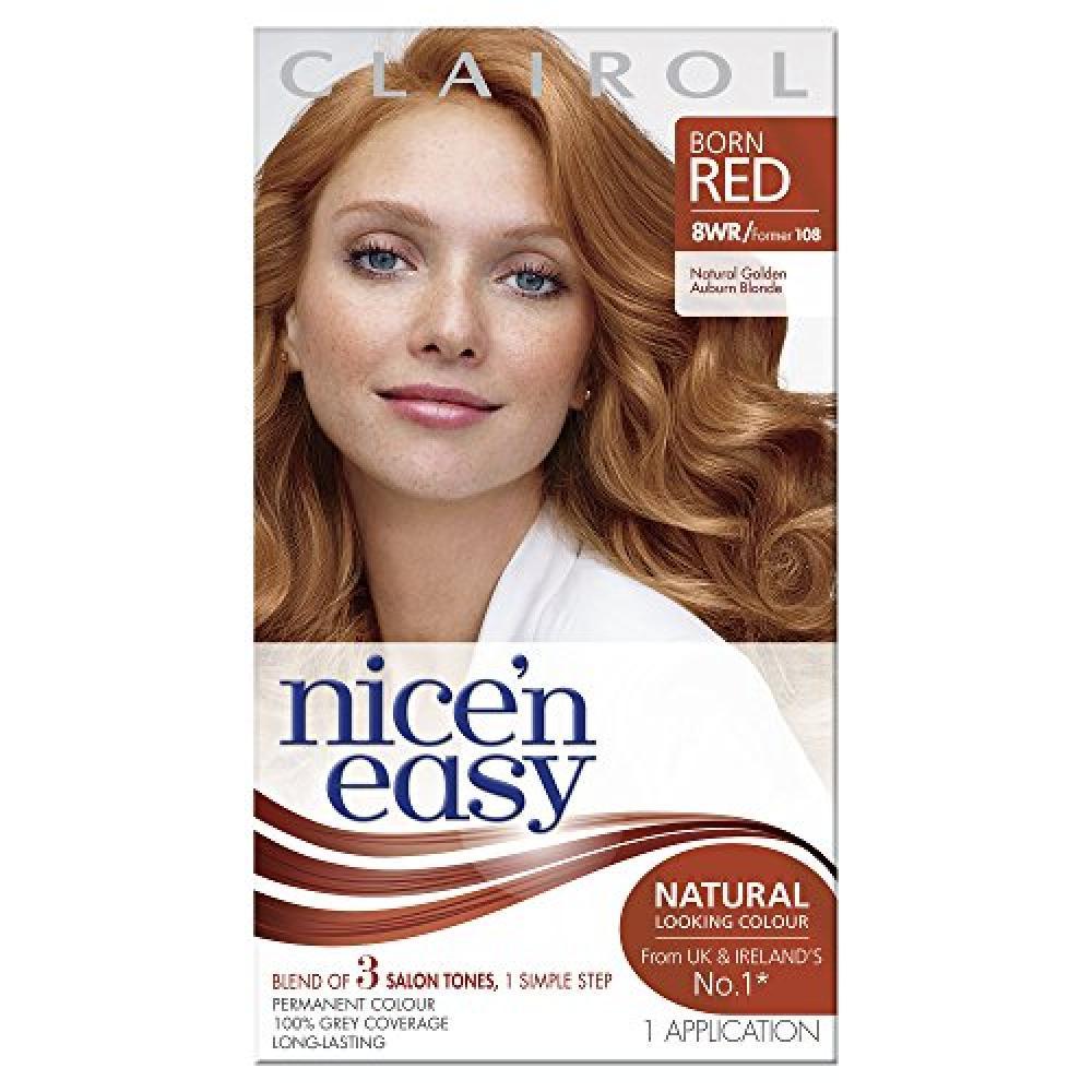 Clairol Nicen Easy Permanent Hair Colour - 108 Natural Golden Auburn Blonde