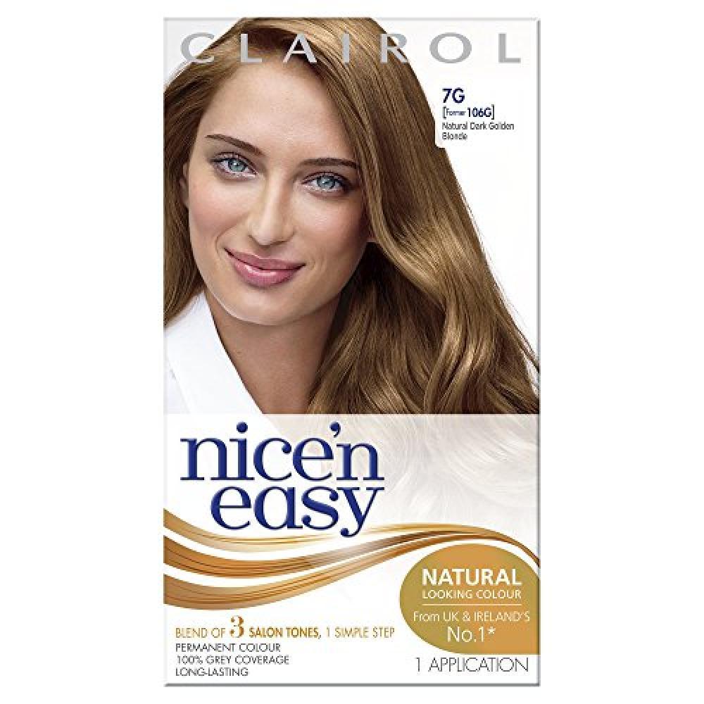 Clairol Nicen Easy Permanent Hair Dye 106g7g Natural Dark Golden
