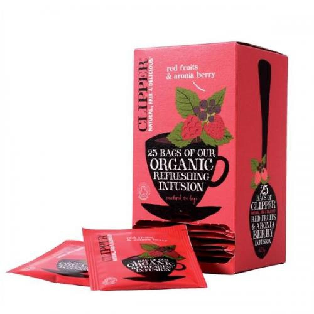 Clipper Organic Red Fruits and Aronia Berry Infusion 25 tea bags